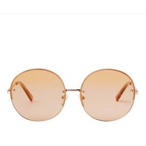 Le Specs Rose Gold Sunglasses